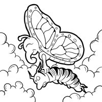 monarch coloring page 5 monarch coloring page 6