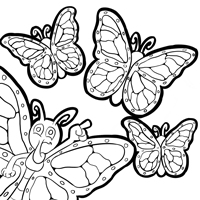 Monarch Coloring Page 8
